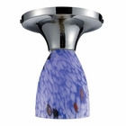 ELK Celina 1-Light Semi-Flush in Polished Chrome and Starburst Blue Glass EK-10152-1PC-BL