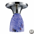 ELK Celina 1-Light Semi-Flush in Polished Chrome and Starburst Blue Glass With Adapter Kit EK-10152-1PC-BL-LA
