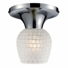 ELK Celina 1-Light Semi-Flush in Polished Chrome and White Glass EK-10152-1PC-WHT