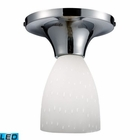 ELK Celina 1-Light Semi-Flush in Polished Chrome and White Glass - Led EK-10152-1PC-WH-LED