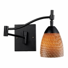 ELK Celina 1-Light Swingarm Sconce in Dark Rust and Coco Glass EK-10151-1DR-C