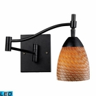 ELK Celina 1-Light Swingarm Sconce in Dark Rust and Coco Glass - Led EK-10151-1DR-C-LED