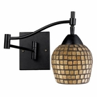 ELK Celina 1-Light Swingarm Sconce in Dark Rust and Gold Leaf EK-10151-1DR-GLD
