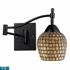 ELK Celina 1-Light Swingarm Sconce in Dark Rust and Gold Leaf - Led EK-10151-1DR-GLD-LED