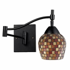 ELK Celina 1-Light Swingarm Sconce in Dark Rust and Mountain Glass EK-10151-1DR-MLT