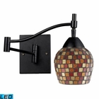 ELK Celina 1-Light Swingarm Sconce in Dark Rust and Mountain Glass - Led EK-10151-1DR-MLT-LED