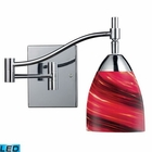 ELK Celina 1-Light Swingarm Sconce in Polished Chrome and Autumn Glass - Led EK-10151-1PC-A-LED