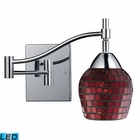 ELK Celina 1-Light Swingarm Sconce in Polished Chrome and Copper Glass - Led EK-10151-1PC-CPR-LED