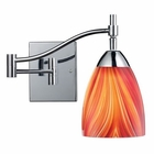 ELK Celina 1-Light Swingarm Sconce in Polished Chrome and Multi Glass EK-10151-1PC-M