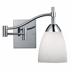 ELK Celina 1-Light Swingarm Sconce in Polished Chrome and Simple Whit Glass EK-10151-1PC-WH