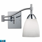 ELK Celina 1-Light Swingarm Sconce in Polished Chrome and Simple Whit Glass - Led EK-10151-1PC-WH-LED