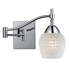 ELK Celina 1-Light Swingarm Sconce in Polished Chrome and White Glass EK-10151-1PC-WHT
