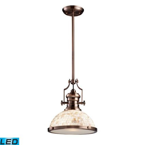 Elk Lighting Chadwick Antique Copper: ELK Chadwick 1-Light Pendant Antique Copper And Cappa