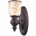 ELK Chadwick 1-Light Sconce in Oiled Bronze and Cappa Shell EK-66430-1