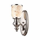 ELK Chadwick 1-Light Sconce in Polished Nickel and Cappa Shell EK-66410-1