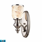 ELK Chadwick 1-Light Sconce in Polished Nickel and Cappa Shell - Led EK-66410-1-LED