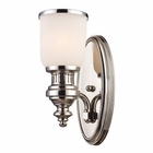ELK Chadwick 1-Light Sconce in Polished Nickel EK-66110-1