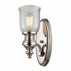 ELK Chadwick 1 Light Sconce in Polished Nickel EK-66780-1