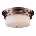 ELK Chadwick 2-Light Flush Mount in Antique Copper EK-66141-2