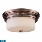ELK Chadwick 2-Light Flush Mount in Antique Copper - Led EK-66141-2-LED