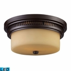 ELK Chadwick 2-Light Flush Mount in - Led EK-66131-2-LED