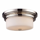 ELK Chadwick 2-Light Flush Mount in Polished Nickel EK-66111-2