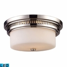 ELK Chadwick 2-Light Flush Mount in Polished Nickel - Led EK-66111-2-LED