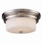 ELK Chadwick 2-Light Flush Mount in Satin Nickel EK-66121-2