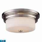 ELK Chadwick 2-Light Flush Mount in Satin Nickel - Led EK-66121-2-LED