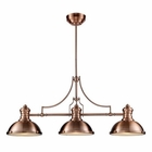 ELK Chadwick 3-Light Billiard/Island Light in Antique Copper  EK-66145-3