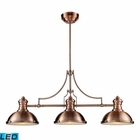 ELK Chadwick 3-Light Billiard/Island Light in Antique Copper  - Led EK-66145-3-LED