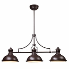 ELK Chadwick 3-Light Billiard/Island Light in Oiled Bronze EK-66135-3