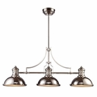 ELK Chadwick 3-Light Billiard/Island Light in Polished Nickel EK-66115-3