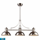 ELK Chadwick 3-Light Billiard/Island Light in Polished Nickel - Led EK-66115-3-LED