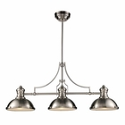 ELK Chadwick 3-Light Billiard/Island Light in Satin Nickel EK-66125-3