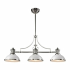 ELK Chadwick 3 Light Island in Gloss White/Polished Nickel EK-66155-3