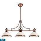 ELK Chadwick 3-Light Island Light in Antique Copper - Led EK-66245-3-LED