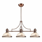 ELK Chadwick 3-Light Island Light in Antique Copper With Cappa Shell EK-66445-3