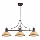 ELK Chadwick 3-Light Island Light in Oiled Bronze EK-66235-3
