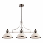 ELK Chadwick 3-Light Island Light in Polished Nickel EK-66215-3