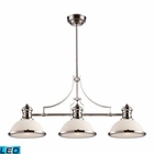 ELK Chadwick 3-Light Island Light in Polished Nickel - Led EK-66215-3-LED