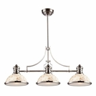 ELK Chadwick 3-Light Island Light in Polished Nickel With Cappa Shell EK-66415-3