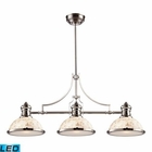 ELK Chadwick 3-Light Island Light in Polished Nickel With Cappa Shell - Led EK-66415-3-LED