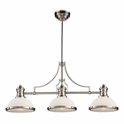 ELK Chadwick 3-Light Island Light in Satin Nickel EK-66225-3