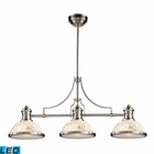 ELK Chadwick 3-Light Island Light in Satin Nickel With Cappa Shell - Led EK-66425-3-LED