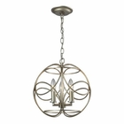 ELK Chandette 3 Light Pendant in Aged Silver EK-31801-3