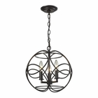 ELK Chandette 3 Light Pendant in Oil Rubbed Bronze EK-31811-3