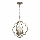 ELK Chandette 4 Light Pendant in Aged Silver EK-31802-4