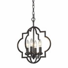 ELK Chandette 4 Light Pendant in Oil Rubbed Bronze EK-31812-4