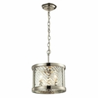 ELK Chandler Collection 3 Light Pendant in Polished Nickel EK-31461-3
